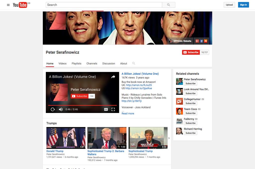 Peter Serafinowicz YouTube Channel