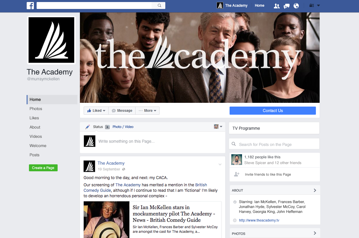 The Academy Facebook Page