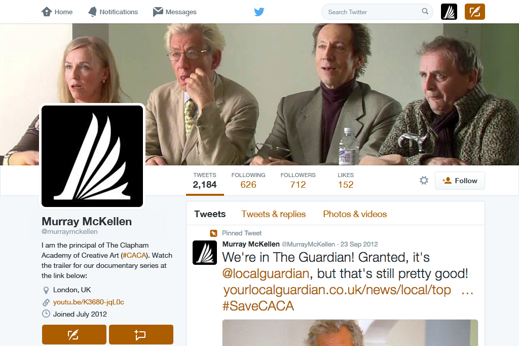 The Academy Twitter Profile