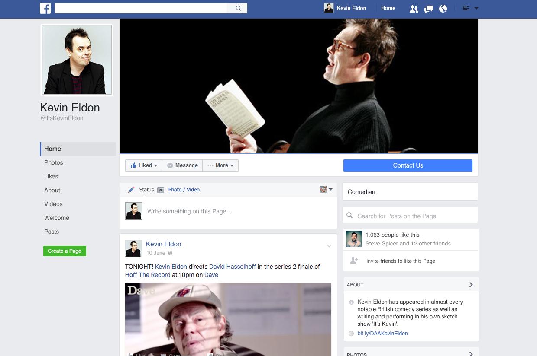 Kevin Eldon Facebook Page
