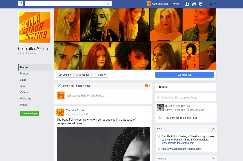 Camilla Arthur Casting Facebook Page