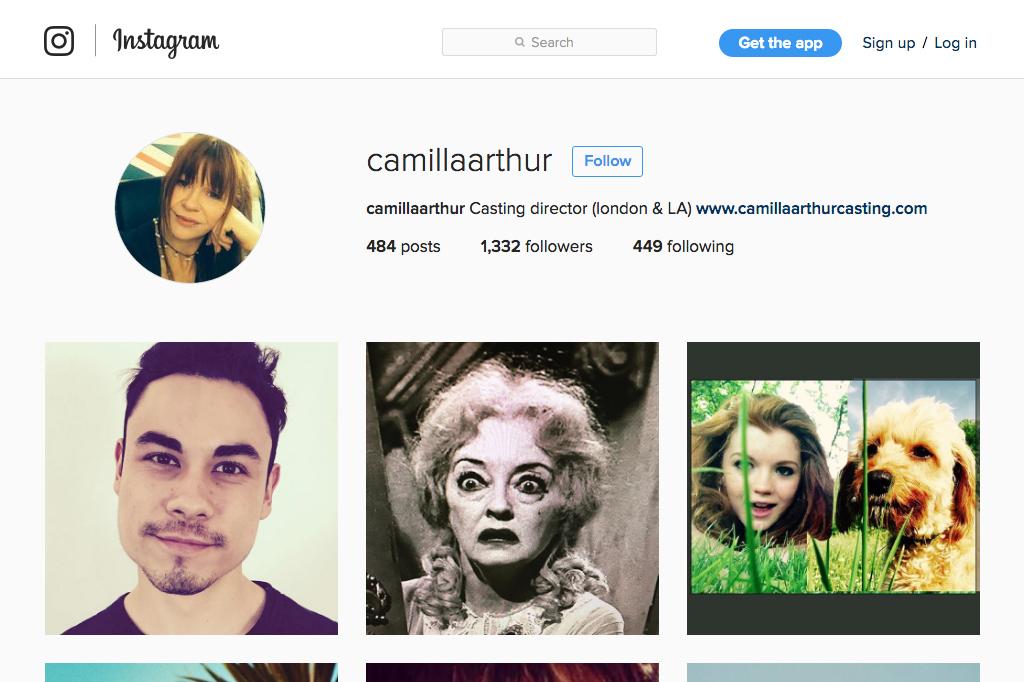 Camilla Arthur Casting Instagram Profile