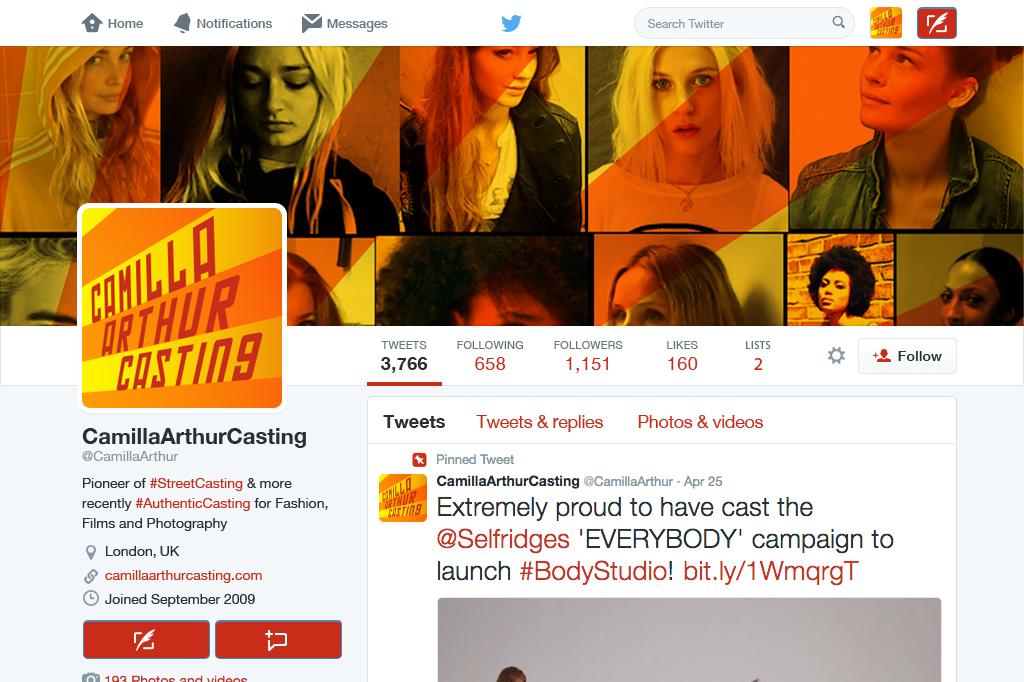 Camilla Arthur Casting Twitter Profile