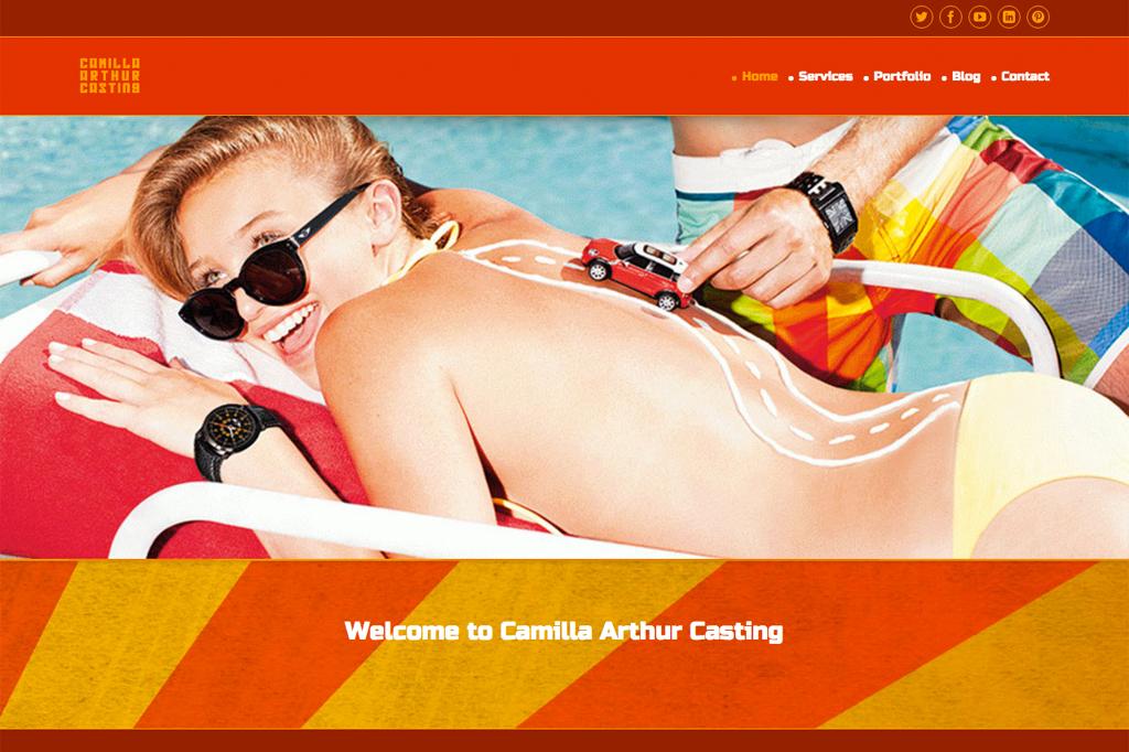 Camilla Arthur Casting website homepage