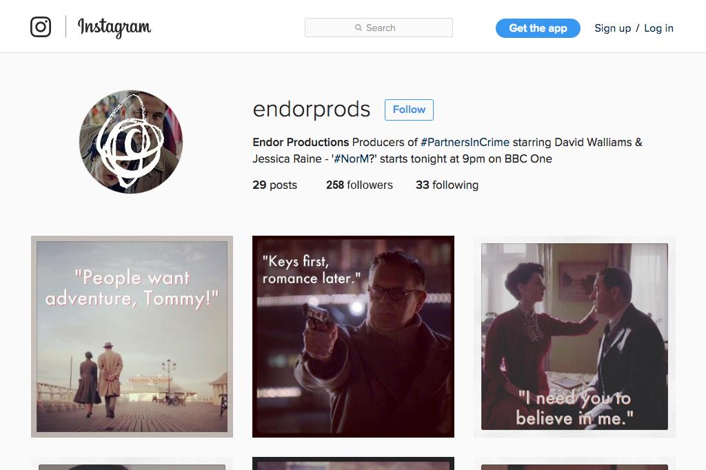 Endor Productions Instagram Profile