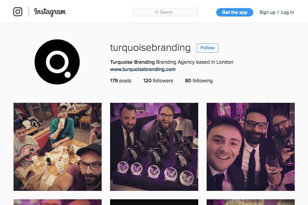 Turquoise Branding Instagram Profile